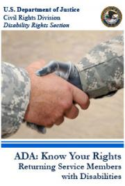 ADA: Know Your Rights - Returning Service Members with Disabilities