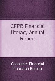 CFPB Financial Literacy Annual Report