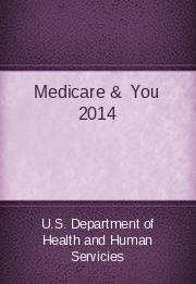 Medicare &  You 2014