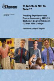 To Teach Or Not To Teach? Teaching Experience And Preparation Among 1992-93 Bachelor's Degree Recipies
