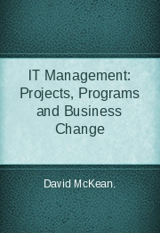 IT Management: Projects, Programs and Business Change