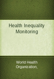 Health Inequality Monitoring