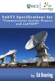 "SubVI Specifications for ""Communication Systems Projects with LabVIEW"""