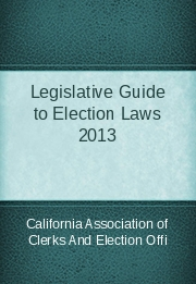Legislative Guide to Election Laws 2013