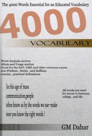 The 4000 English Words Essential for Educated Vocabulary