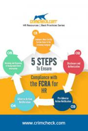 5 Steps To Ensure Compliance With The FCRA