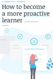 How to be a more proactive learner