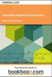 Elementary Algebra Exercise Book I cover