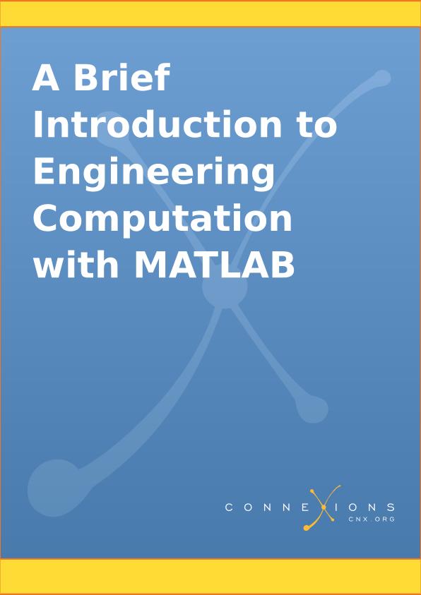 Resultado de imagen de A Brief Introduction to Engineering Computation with MATLAB