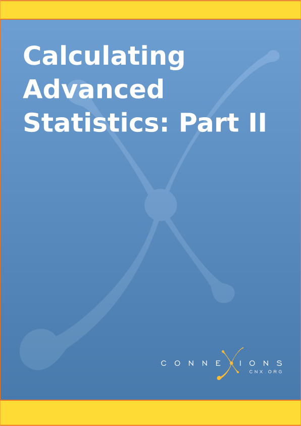 Calculating Advanced Statistics: Part II