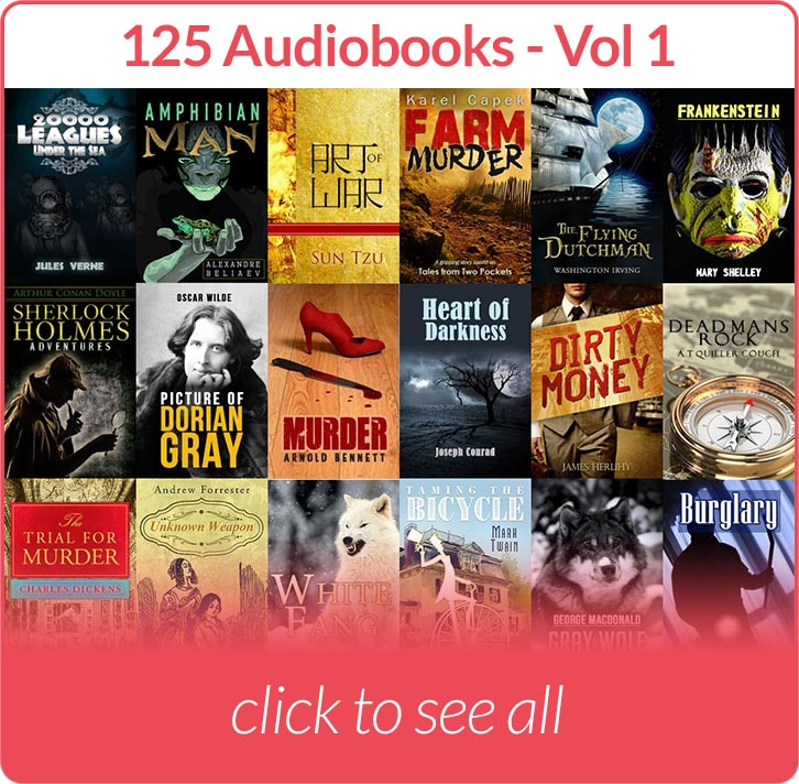 Covers of audiobooks included in Volume 1