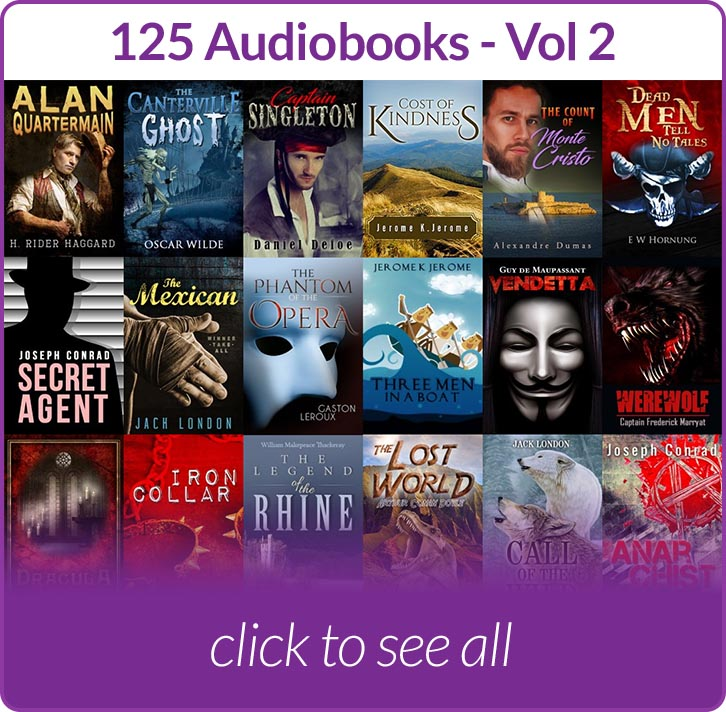 Covers of audiobooks included in Volume 2