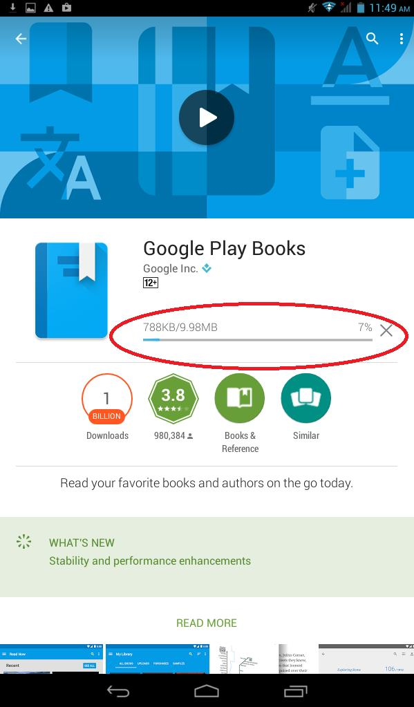FAQ for How to Install Google Play Books to Your Android Device